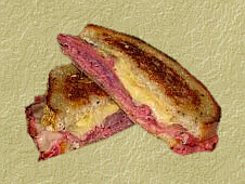 Grilled Pastrami with Swiss Cheese